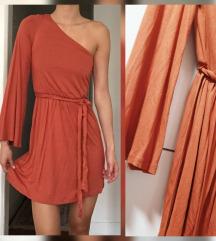 H&M camel haljina jedno rame