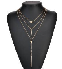 NOVA viseslojna ogrlica u boji zlata