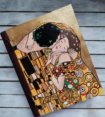 Klimt poljubac kutija-knjiga