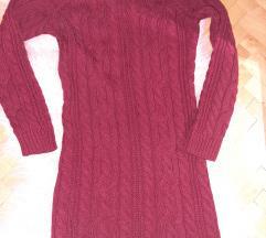 Zimska haljina pletena