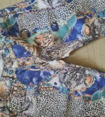 Skinny pantalone/farmerke animal desena, nenoseno