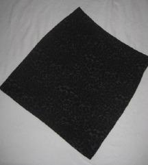 Fishbone mini suknja animal print