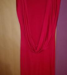 Crvena haljina sa otvorenim ledjima