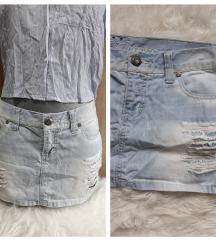 Cepkana nova Fishbone teksas suknja