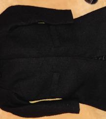 NOV crni C&A kaput vel. 38+poklon sandale