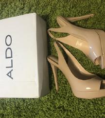 Aldo kozne lakovane sandale na stiklu