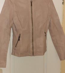 Prljavo-roze kozna jakna