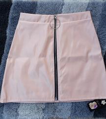 Baby roze pvc lateks suknja sa etiketom NOVO