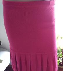 Pink suknja od trikotaze