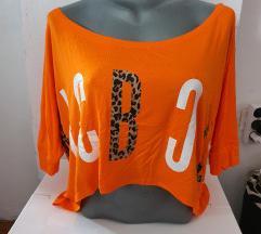 Narandžasta crop top majica