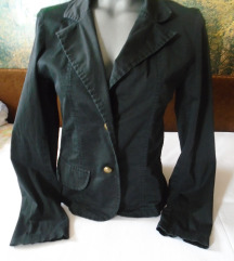 Crni pamučni sako
