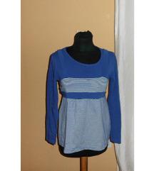 Plavo-bela bluza na pruge sa vezivanjem; SALE-50%