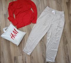 H&M elegantne baggy pantalone od viskoze NOVO