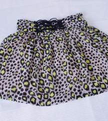 %% H&M leopard suknja S