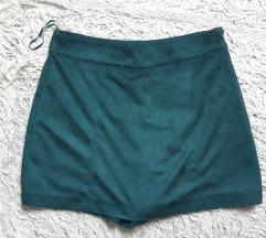 Zara tamno zelena suknja sorc (S velicina)