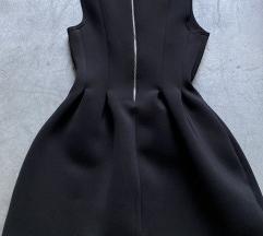SNIZENA /  PULL&BEAR crna haljina L  nenosena
