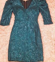 Zelena haljina sa šljokicama