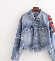 Zara floral teksas jakna NOVA