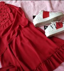 Crvena mini haljina+patike Valentino