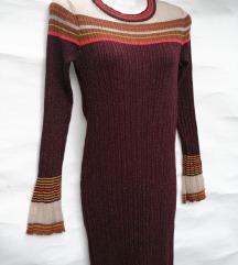 ZARA duga pletena haljina za jesen, nova!