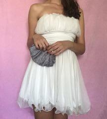Svečana bela kratka haljina SNIZENJE 650
