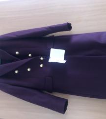 Zara nov bordo kaput