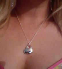 Ogrlica i privezak srce u srcu 925