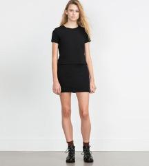 Zara crna mini suknja kao novo
