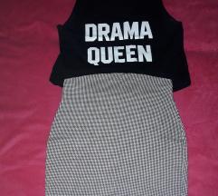 Crop top i suknja S