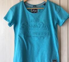 SuperDry tirkizno plava majica NOVO