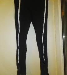 Crno bele helanke pantalone