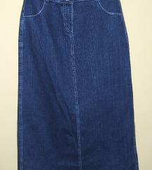 Jeans suknja novo