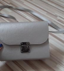 Siva metalik torbica
