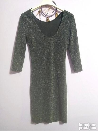 Siva haljina sa šljokicama