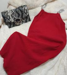 Nova crvena haljina sa lancima uni vel.