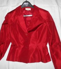 crveni sako CHRISTIAN BERG svila 100 % novo