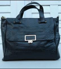 Velika Crna kožna torba Studio Pollini