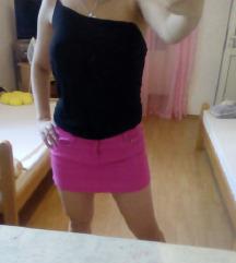 Teksas suknja u pink boji