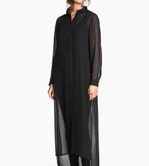 HM crna košulja/haljina