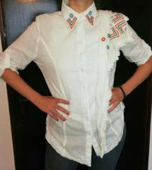 Bela košulja sa radom + marama