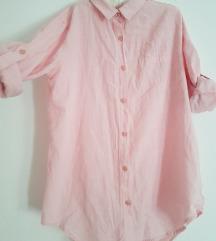 Roze lanena košulja univerzalna SNIŽENA