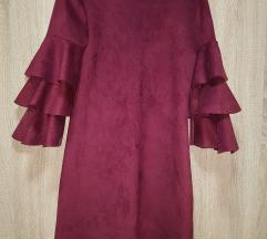 Bordo haljina od velura