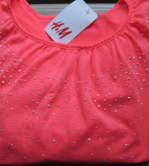 H&M crop top bluza sa cirkonima NOVO