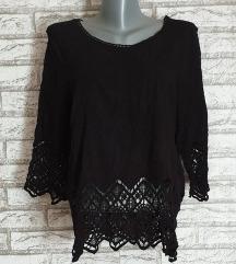 NOVA Crna rupicasta majica