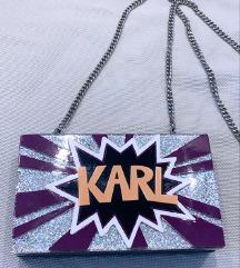 Karl Lagerfield clutch torba kao nova DVA LICA