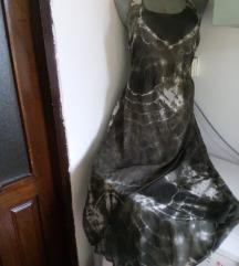 Okay zelenkasta neravna haljina S/M