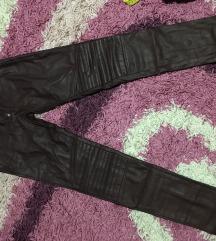 H&M ljubicaste kozne pantalone