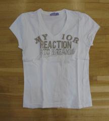 542. Majica kratkih rukava, bela, sa aplikacijom