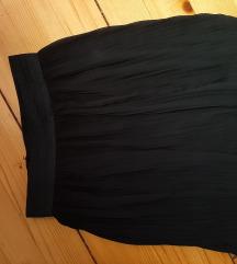 Nova plisirana crna suknjica