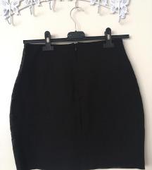 VIKEND AKCIJA - RINASCIMENTO crna suknja, eko koza